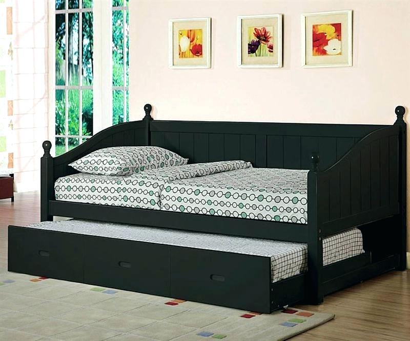 Image of: Black Full Size Trundle Beds for Adults