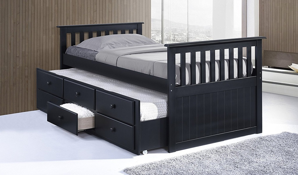 Image of: Black Trundle Beds
