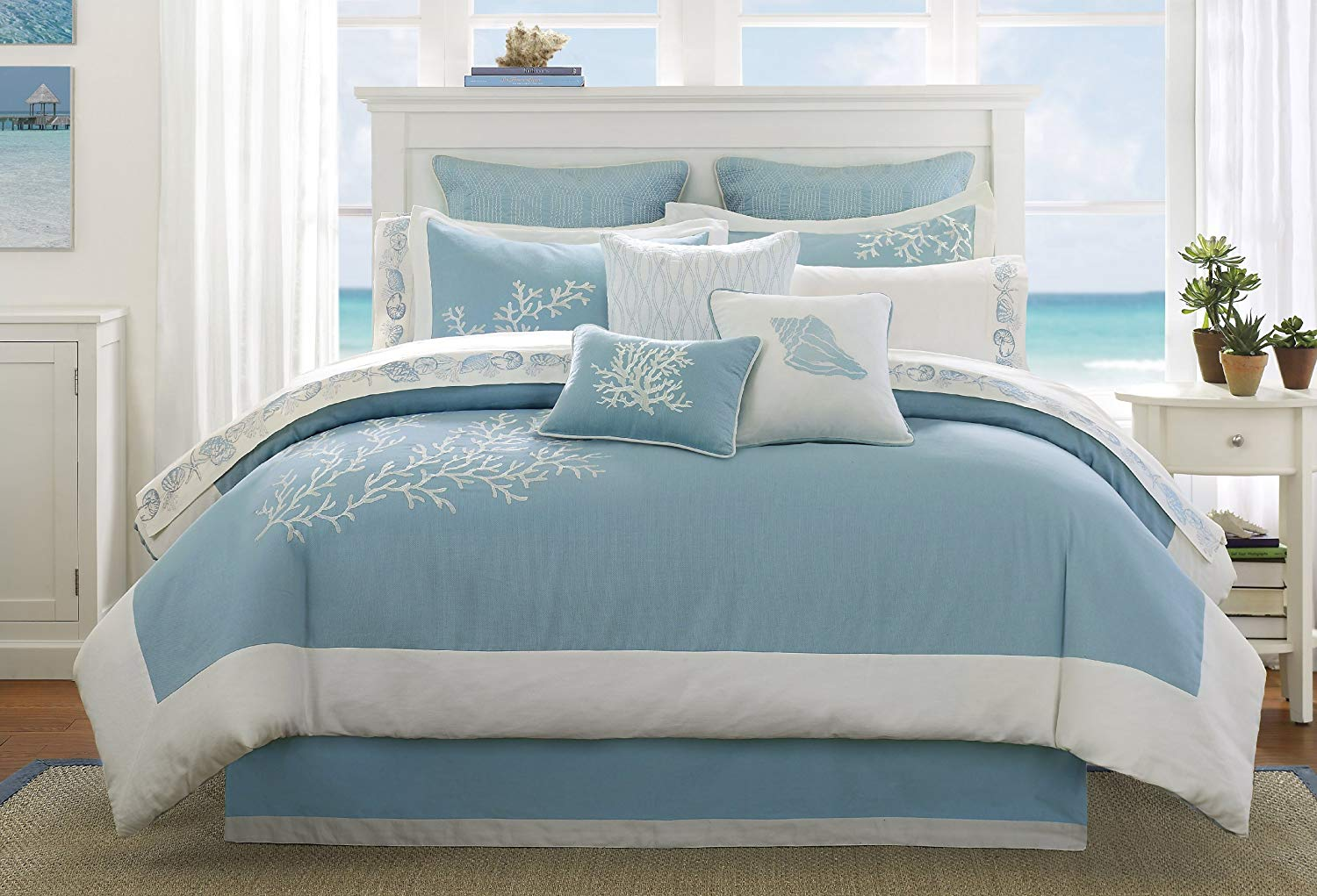 Blue Bed Sets Beach