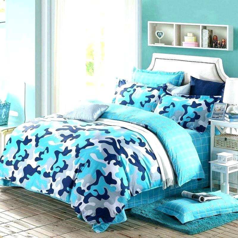 Image of: Blue Camouflage Bedding