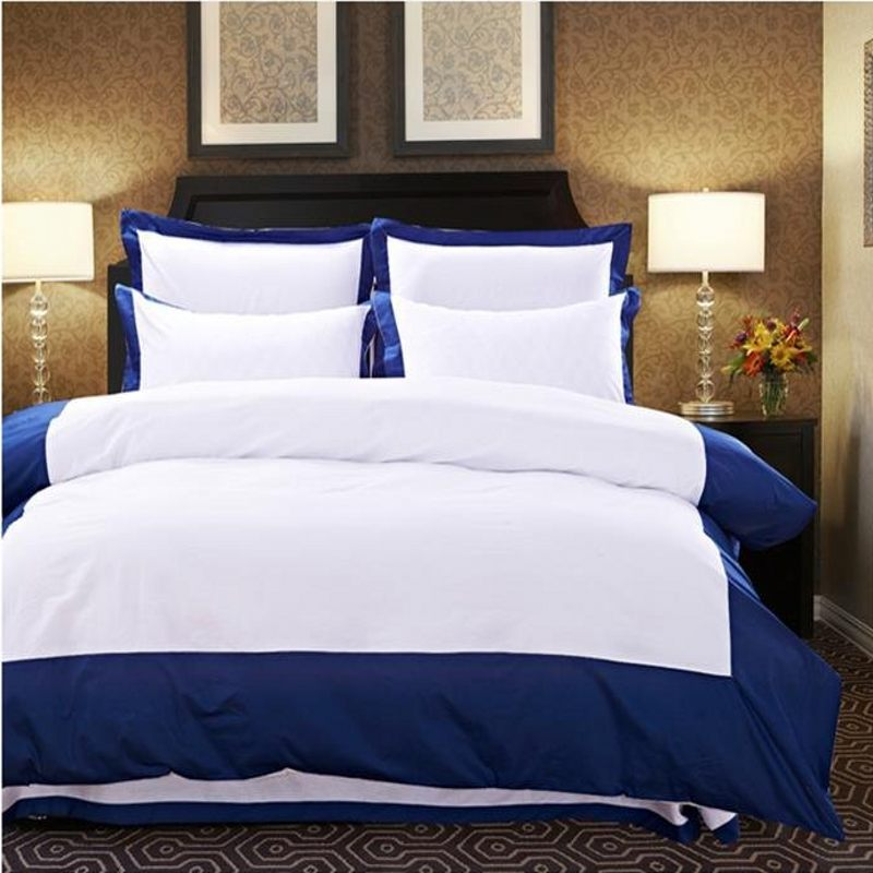 Image of: Blue and White Bedding Sets Home