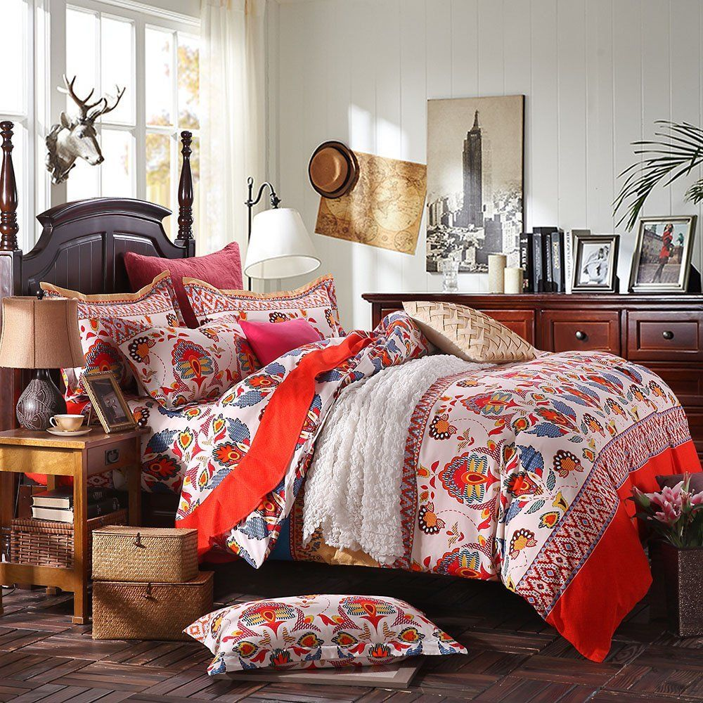 Image of: Bohemian Style Bedding Cotton