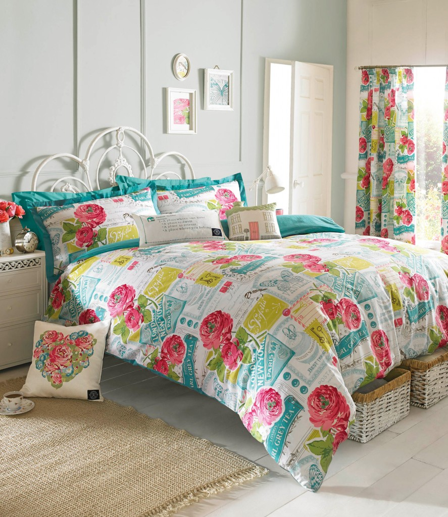 Image of: Bright Colorful Bedding Sets Curtain