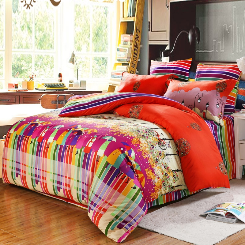 Image of: Bright Colorful Bedding Sets Modern