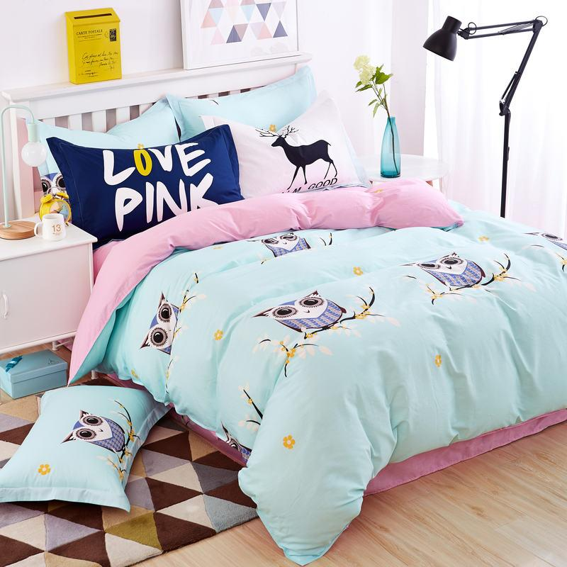 Image of: Bright Colorful Bedding Sets Owl