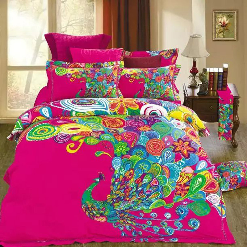 Image of: Bright Colorful Bedding Sets Pink