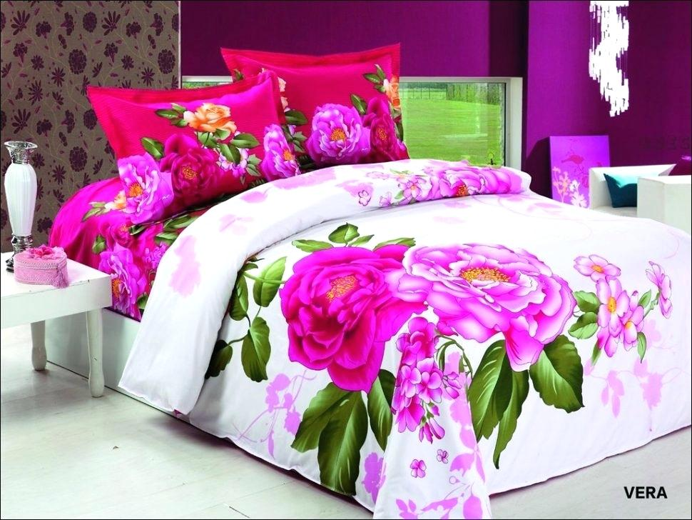 Image of: Bright Colorful Bedding Sets Rose