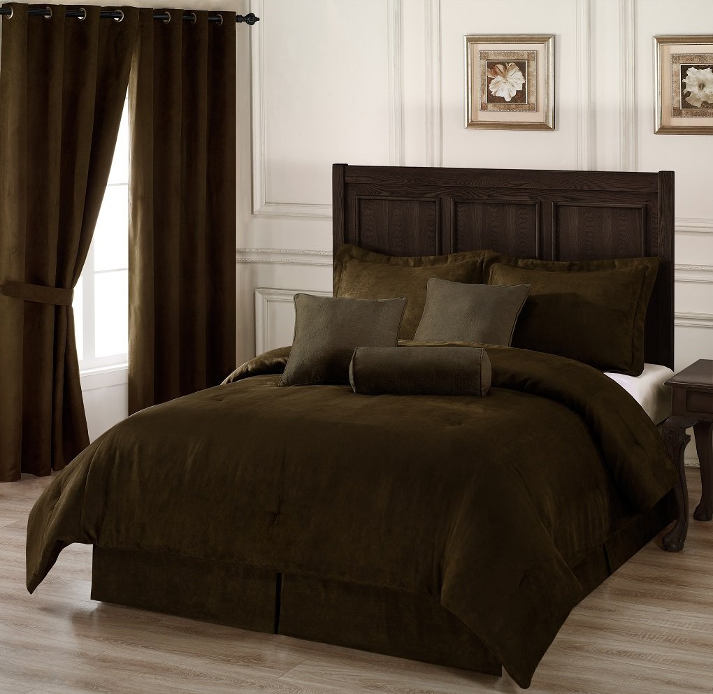 Image of: Brown Bed Sets and Headboard