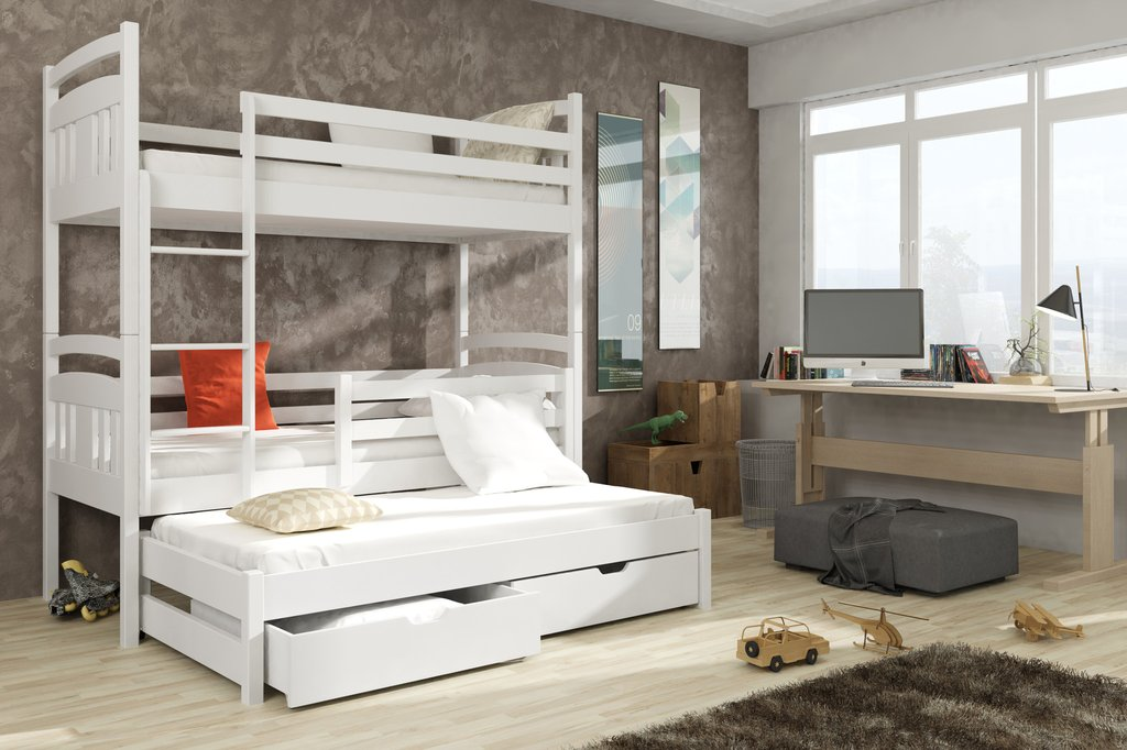 Image of: Bunk Bed With Trundle Color