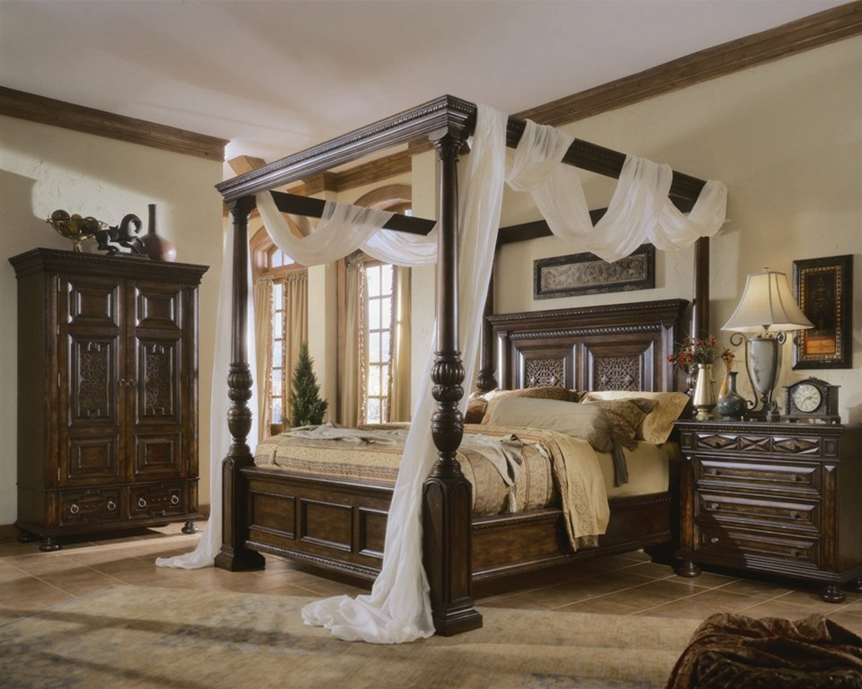 Image of: Canopy Bed Set Decor