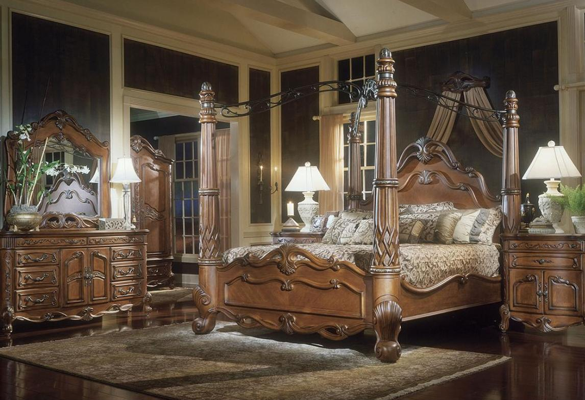 Image of: Canopy Bed Set King Size