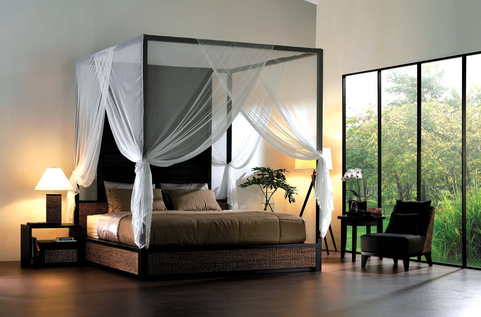 Image of: Canopy Bed Set Lace