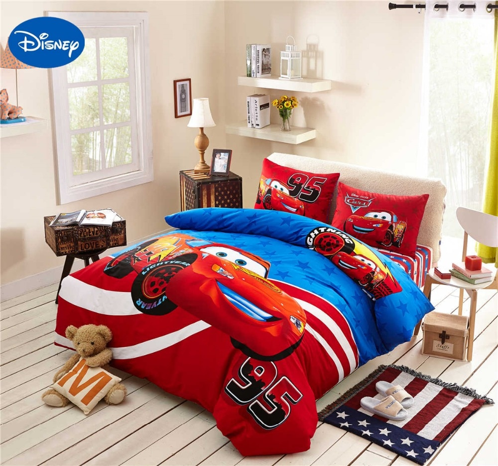 Image of: Cars Bedding Set Color