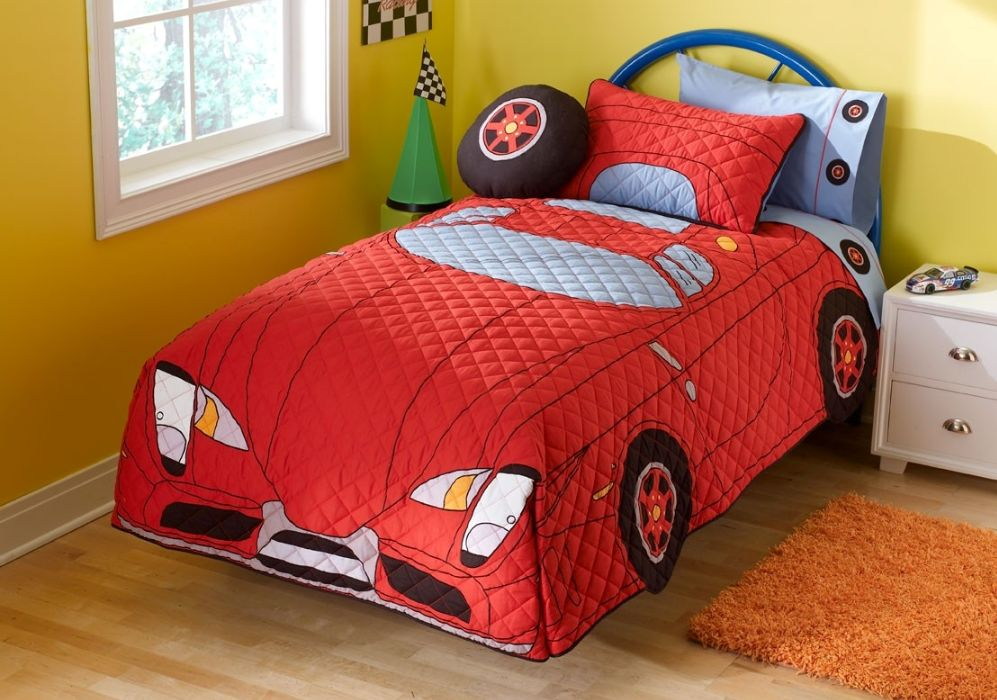 Image of: Cars Bedding Set Red