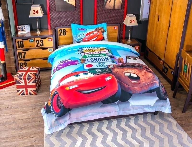 Image of: Cars Toddler Bed Set Theme