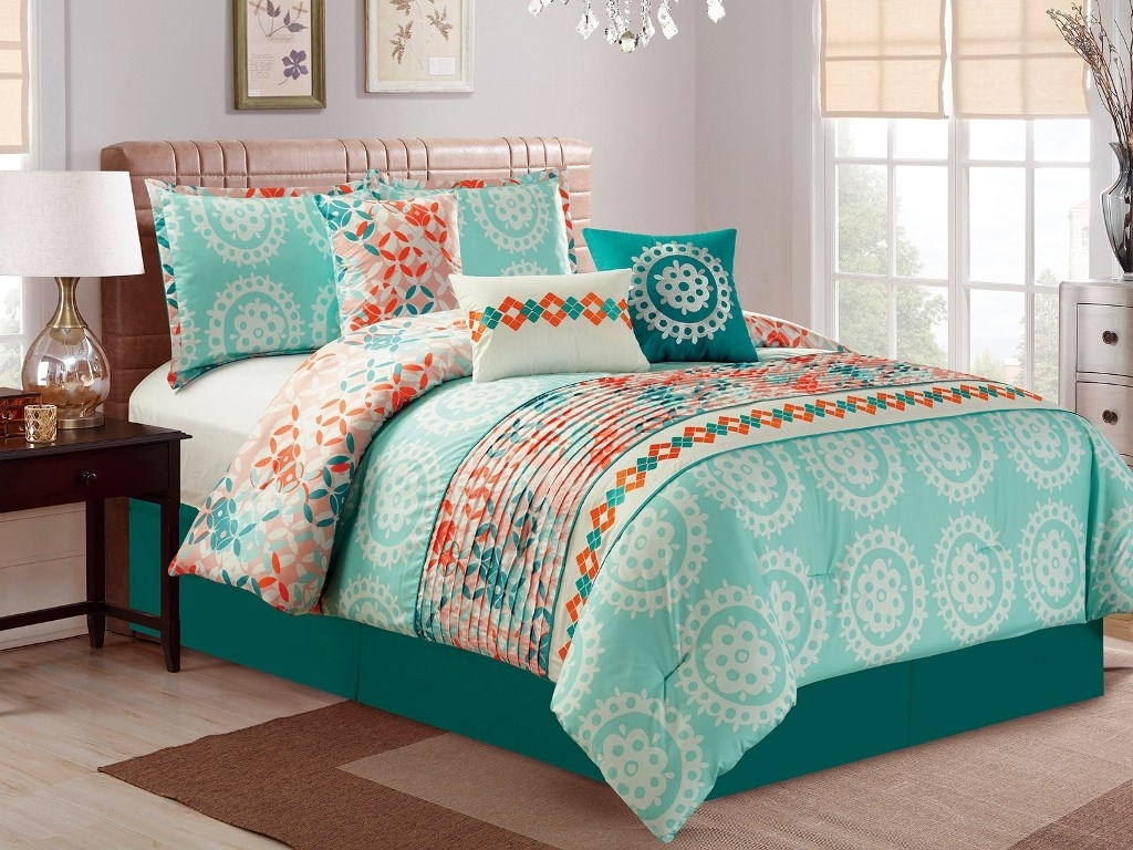 Image of: Charming Blue And Green Bedding Sets