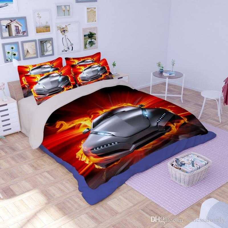 Image of: Cool Cars Toddler Bed Set