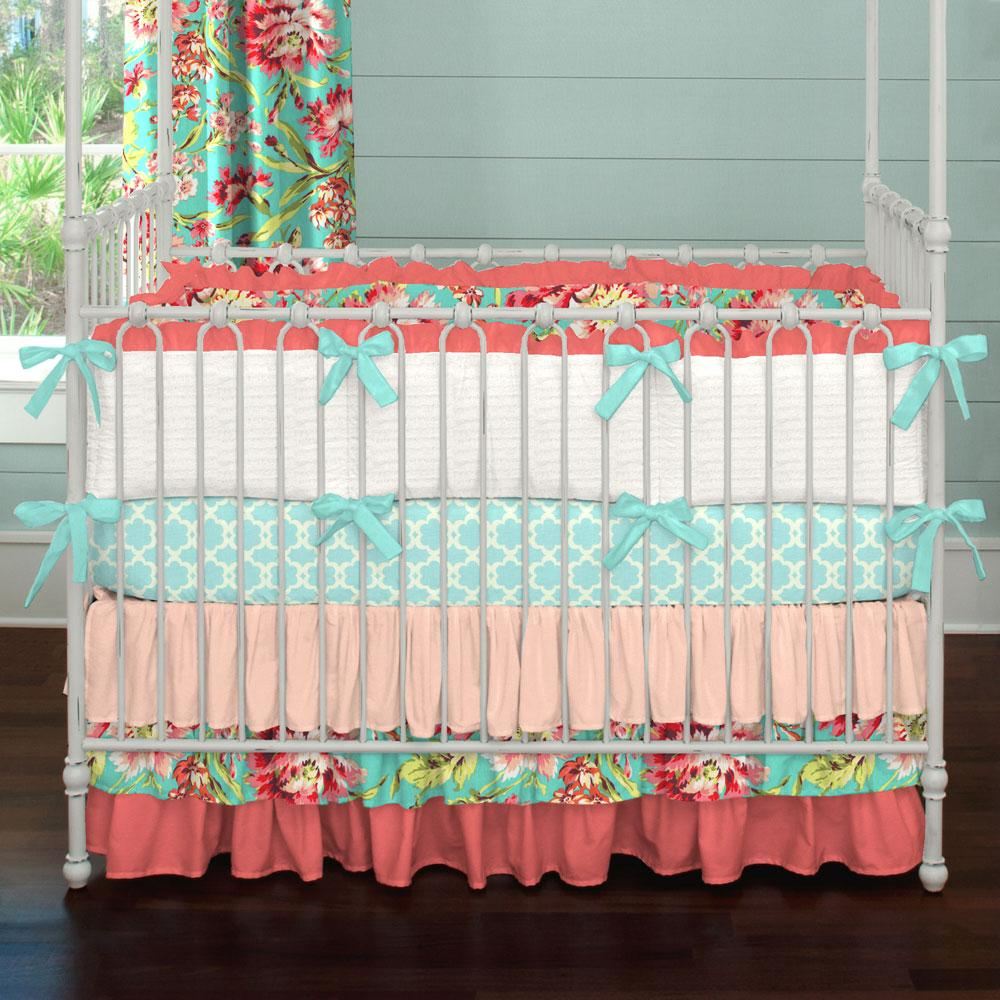 Image of: Coral Baby Bedding Ideas