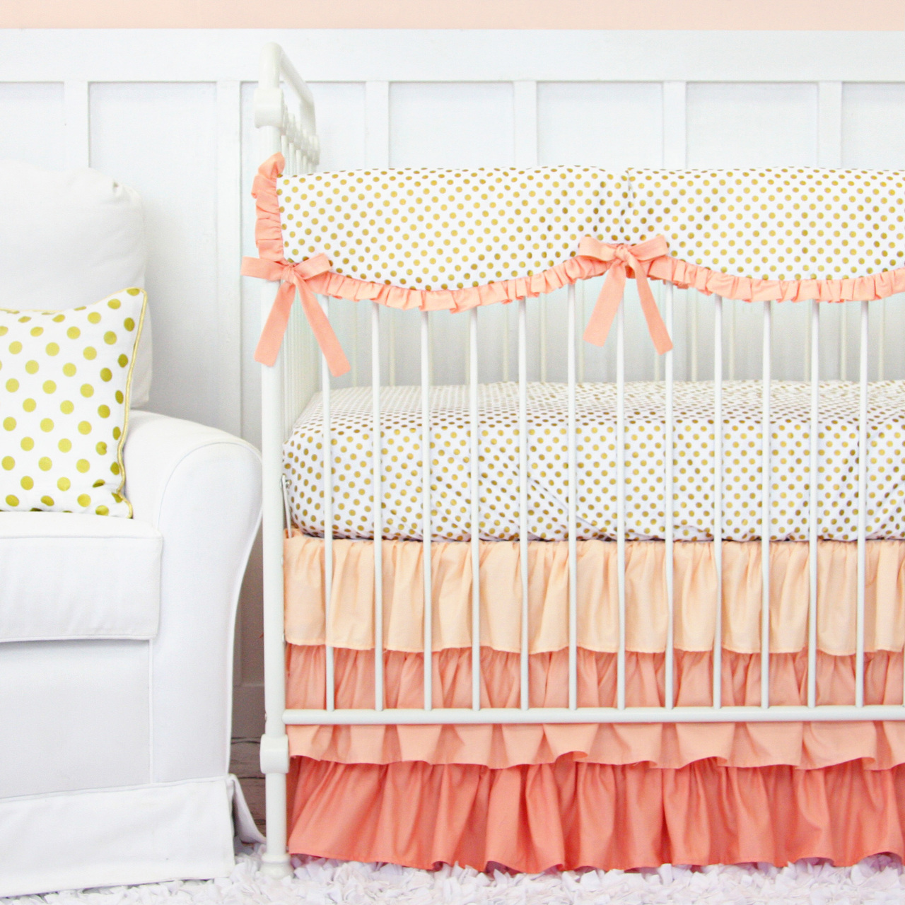 Image of: Coral Baby Bedding Style
