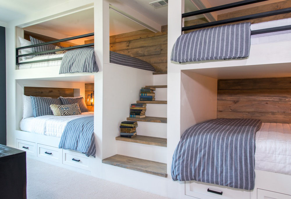 Image of: Country Toddler Size Bunk Beds