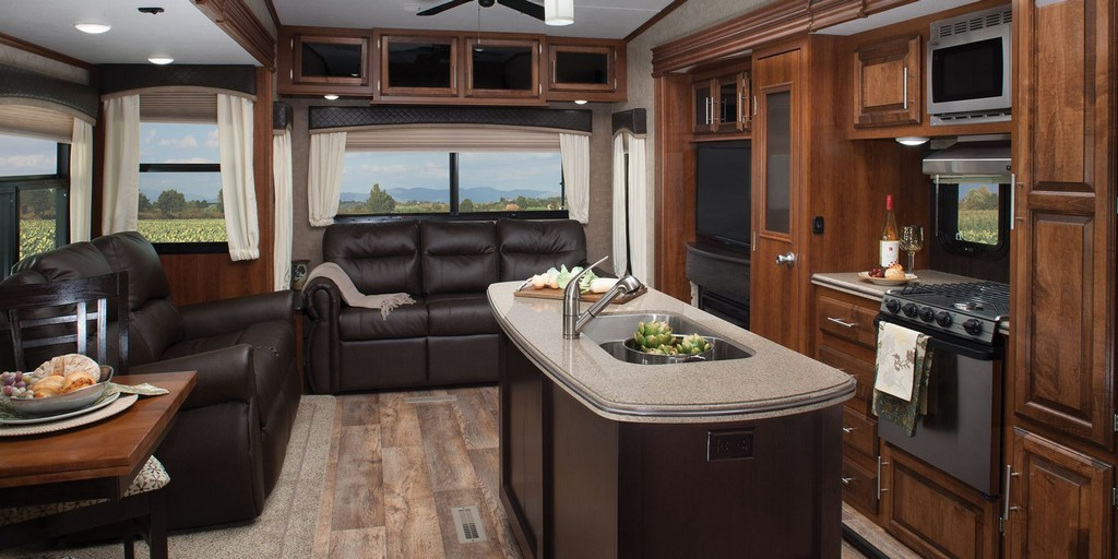 Image of: Cozy Travel Trailers with Bunk Beds