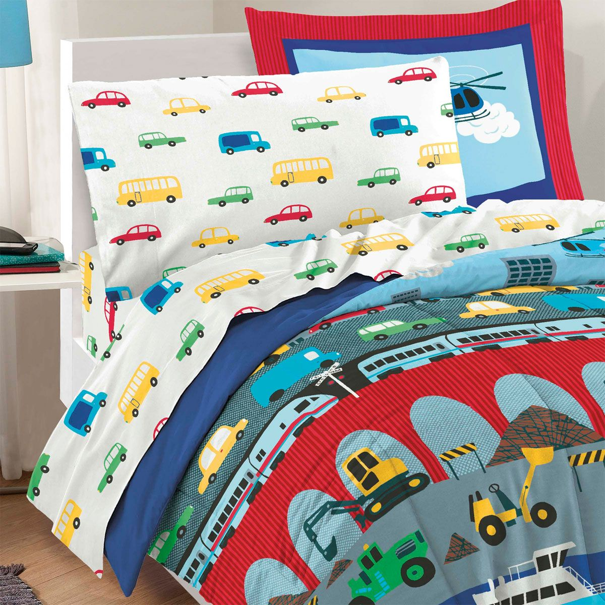 Image of: Cute Cars Toddler Bed Set