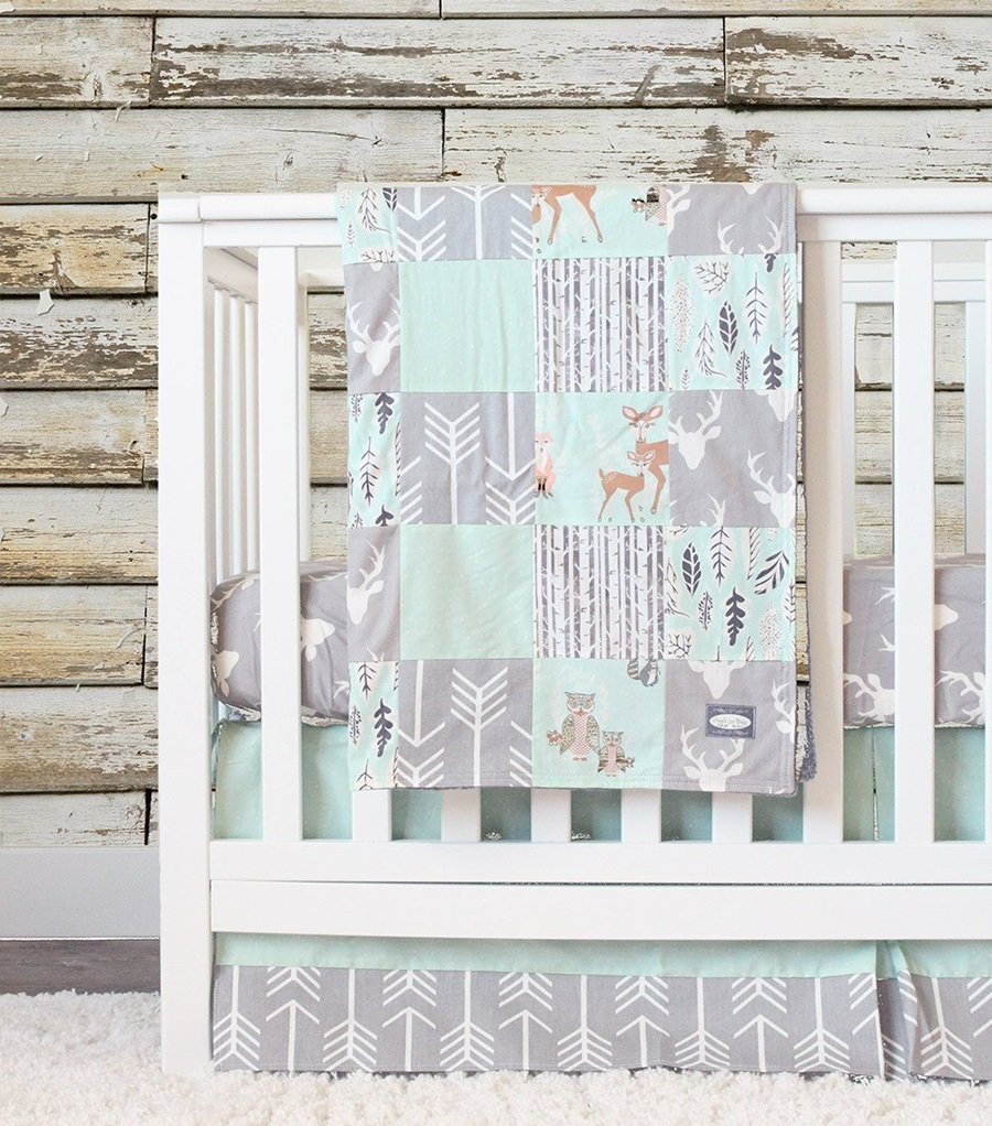 Cute Deer Baby Bedding Set Ideas