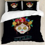 Day of the Dead Bed Set Black