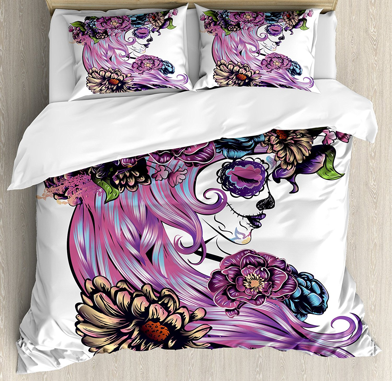 Image of: Day of the Dead Bed Set Ideas