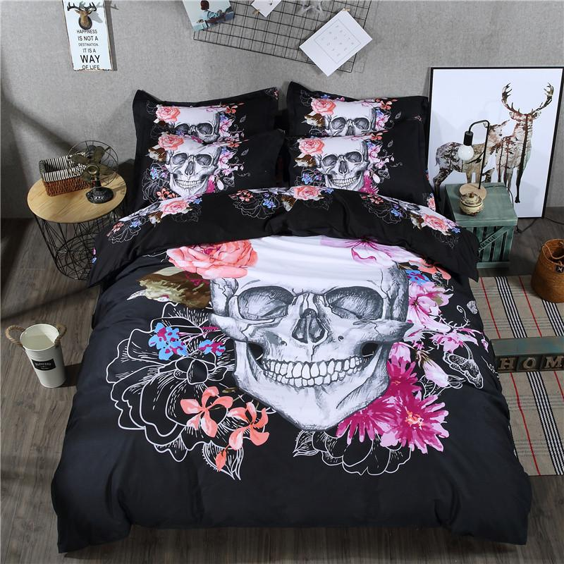 Image of: Day of the Dead Bed Set King