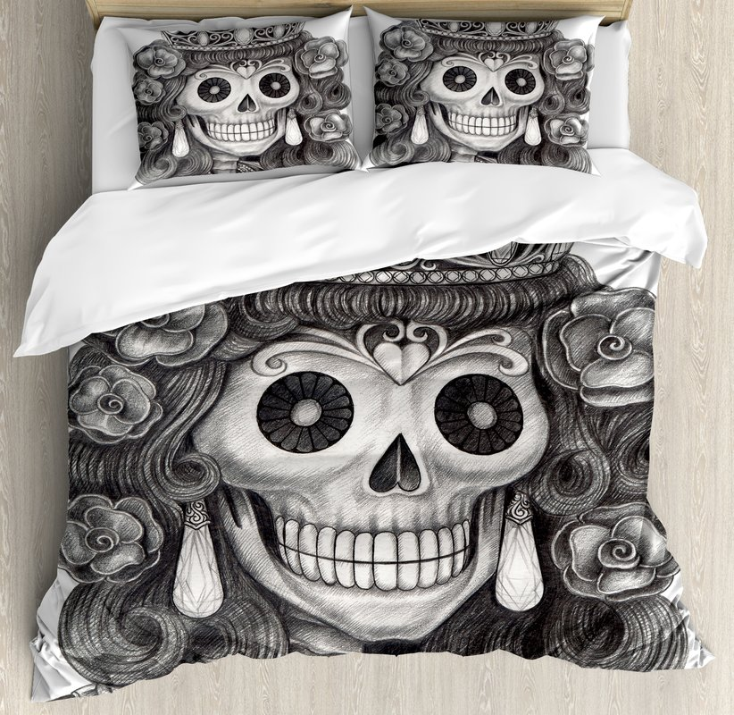 Image of: Day of the Dead Bed Set Theme
