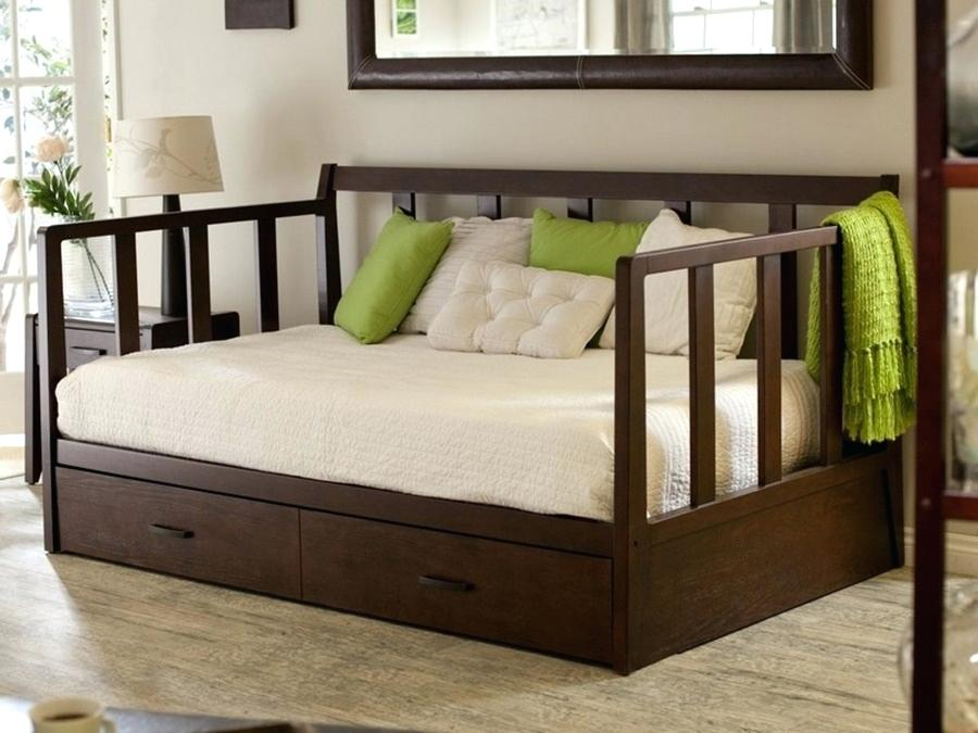 Image of: Daybed With Pop Up Trundle Bed And Storage