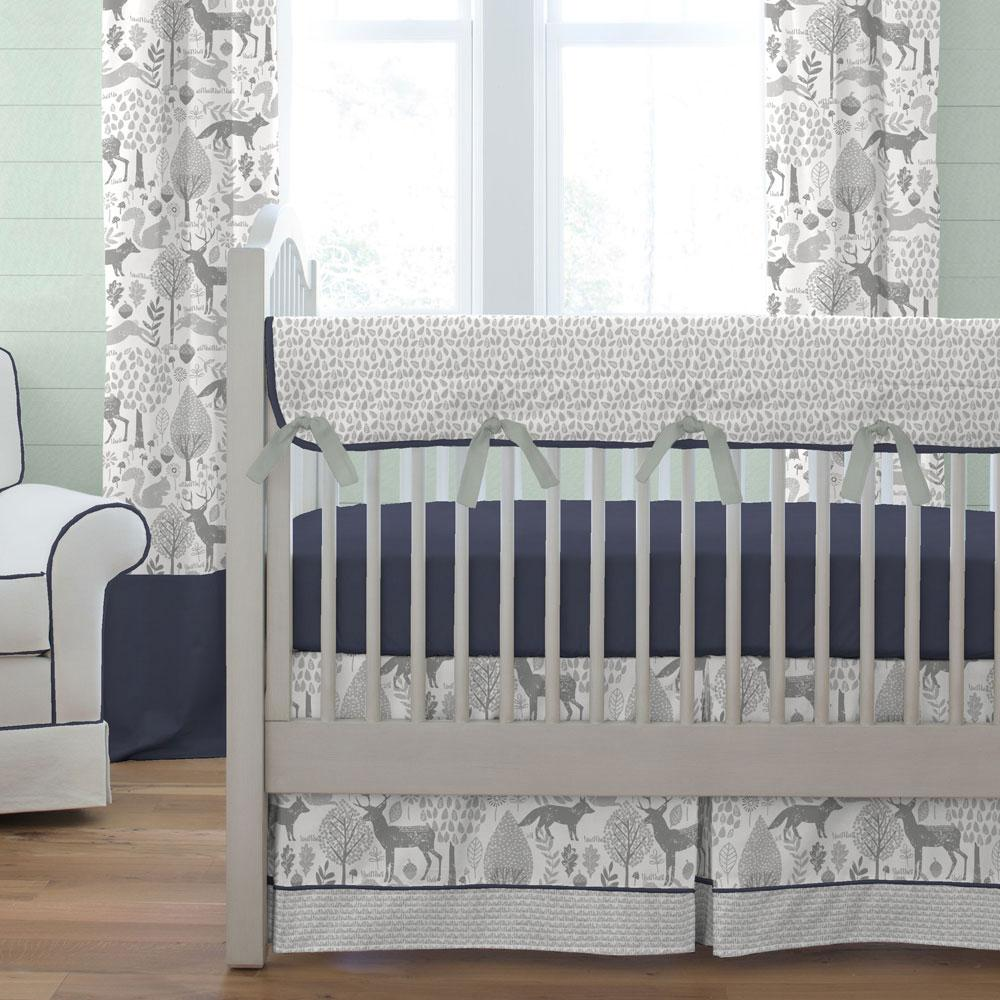 Image of: Deer Baby Bedding Set Curtains