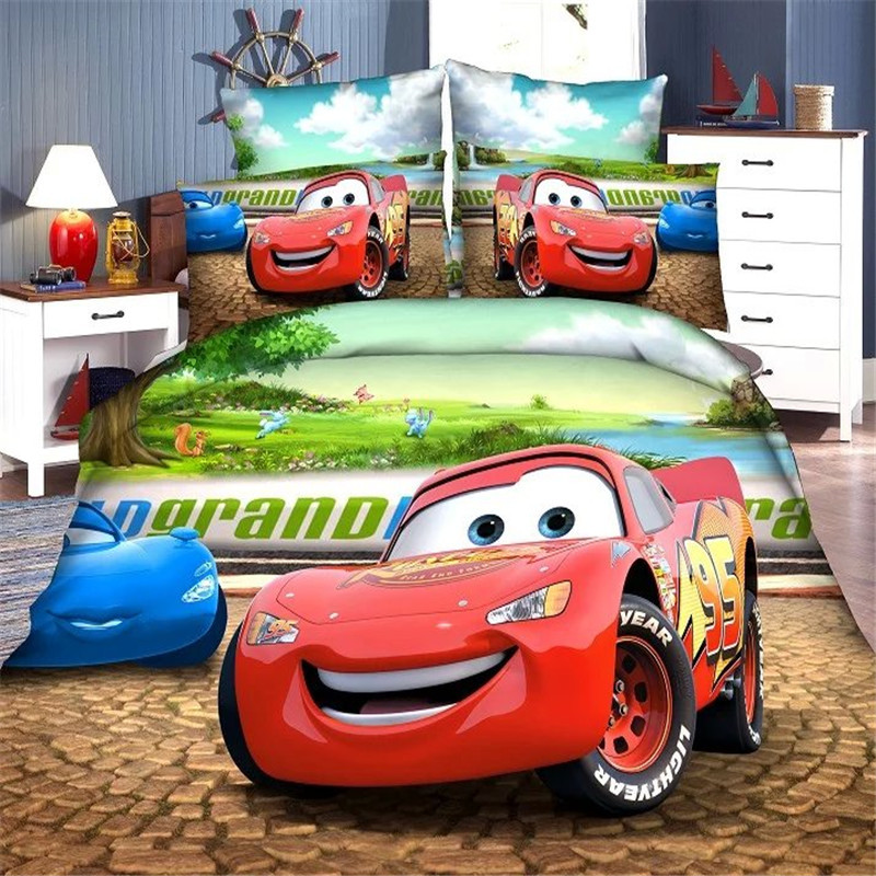 Image of: Disney Cars Toddler Bed Set