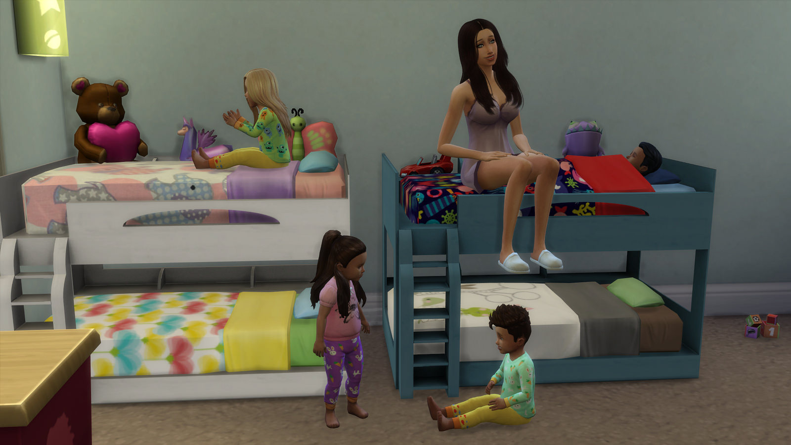 Image of: Dorm Sims 4 Bunk Beds