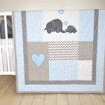 Elephant Baby Girl Bedding Blue
