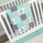 Elephant Baby Girl Bedding Chevron