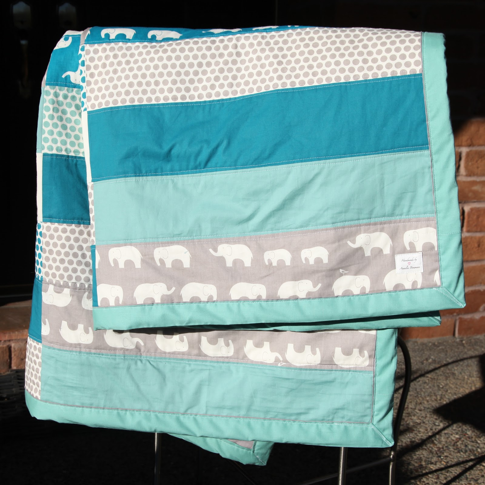 Image of: Elephant Baby Girl Bedding Color