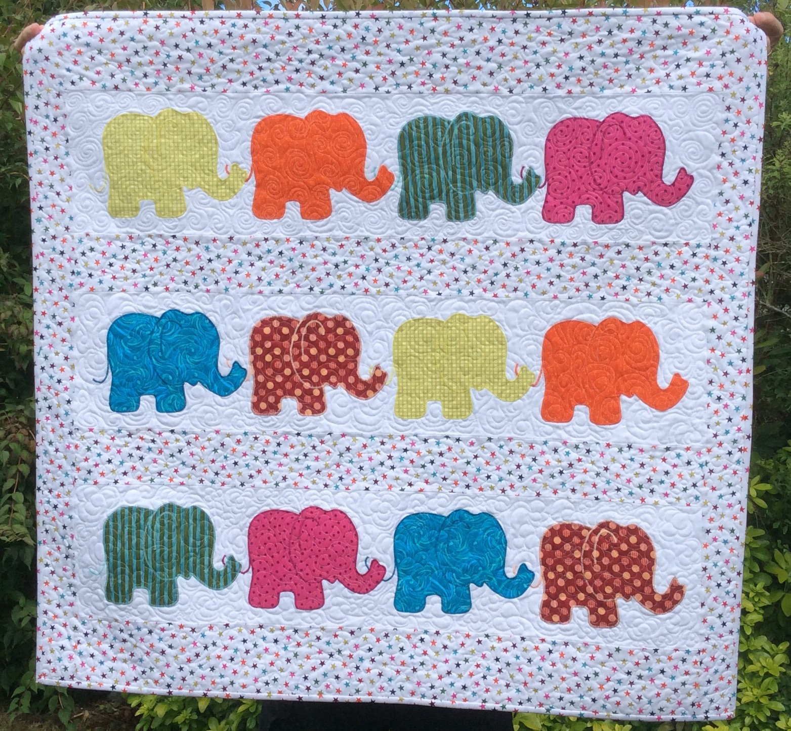 Image of: Elephant Baby Girl Bedding Handmade