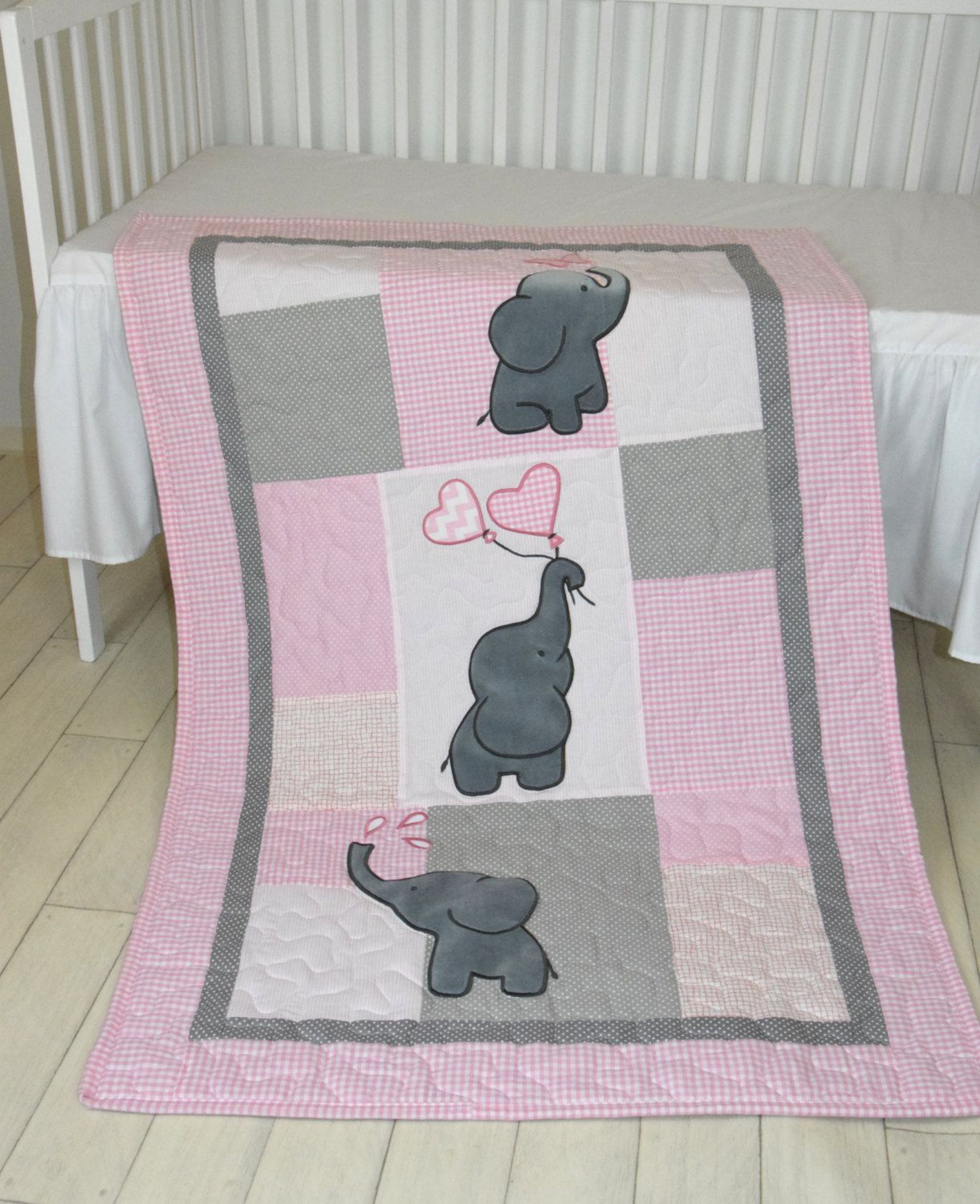 Image of: Elephant Baby Girl Bedding Pink