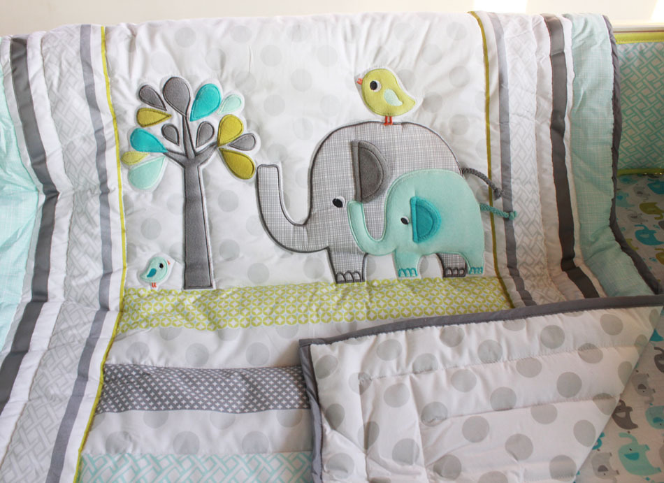 Image of: Elephant Baby Girl Bedding Theme