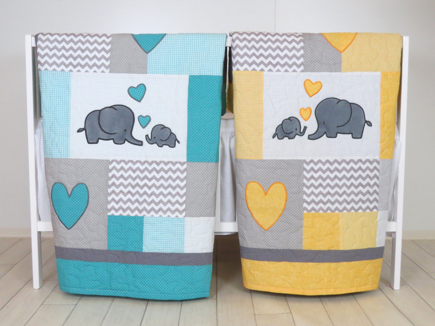 Image of: Elephant Baby Girl Bedding Twin