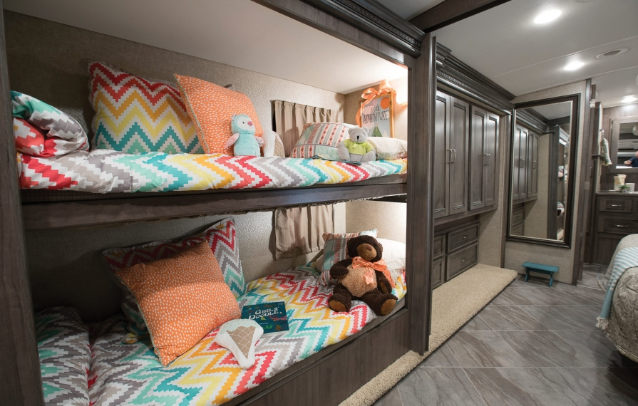 Image of: Floor Plans Rv With Bunk Beds