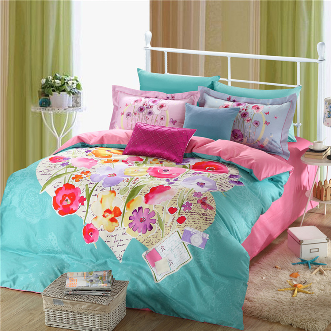 Image of: Floral Bed Set Theme