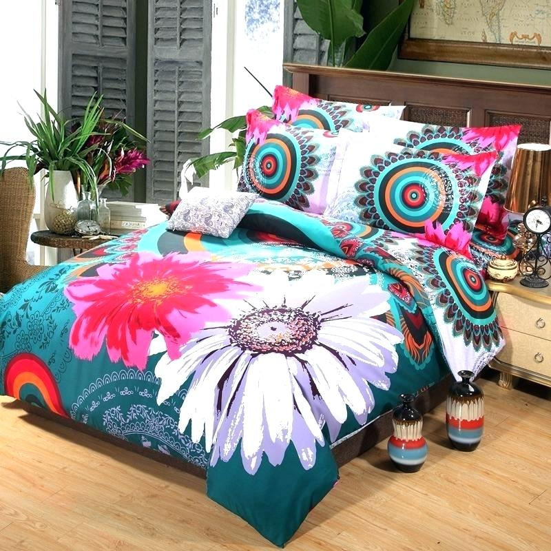 Image of: Flowers Colorful Bed Sets