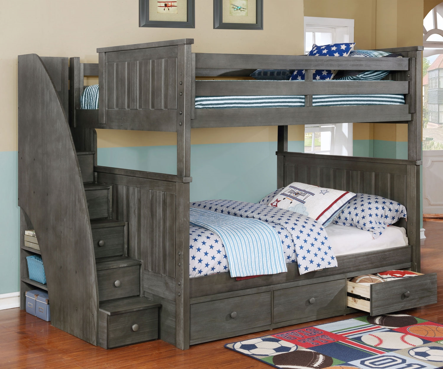 Image of: Full Bunk Bed with Storage