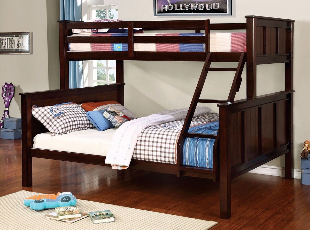 Image of: Full Over Toddler Size Bunk Beds