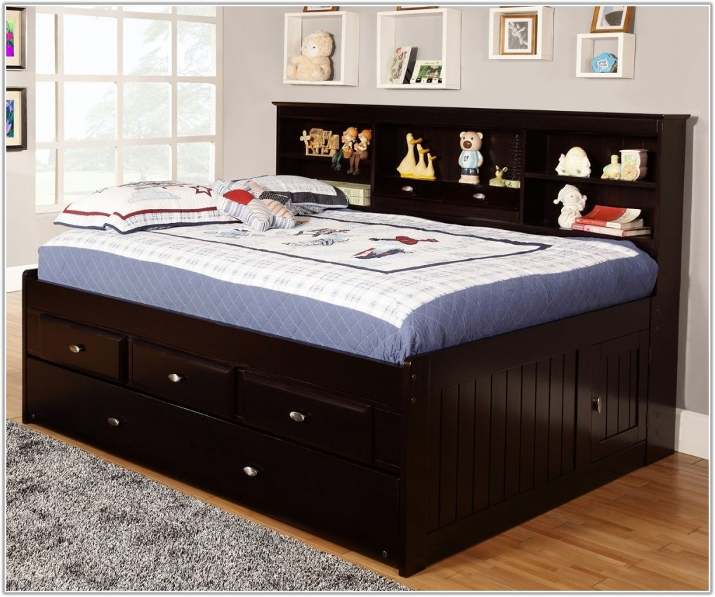 Image of: Full Trundle Bed Storage