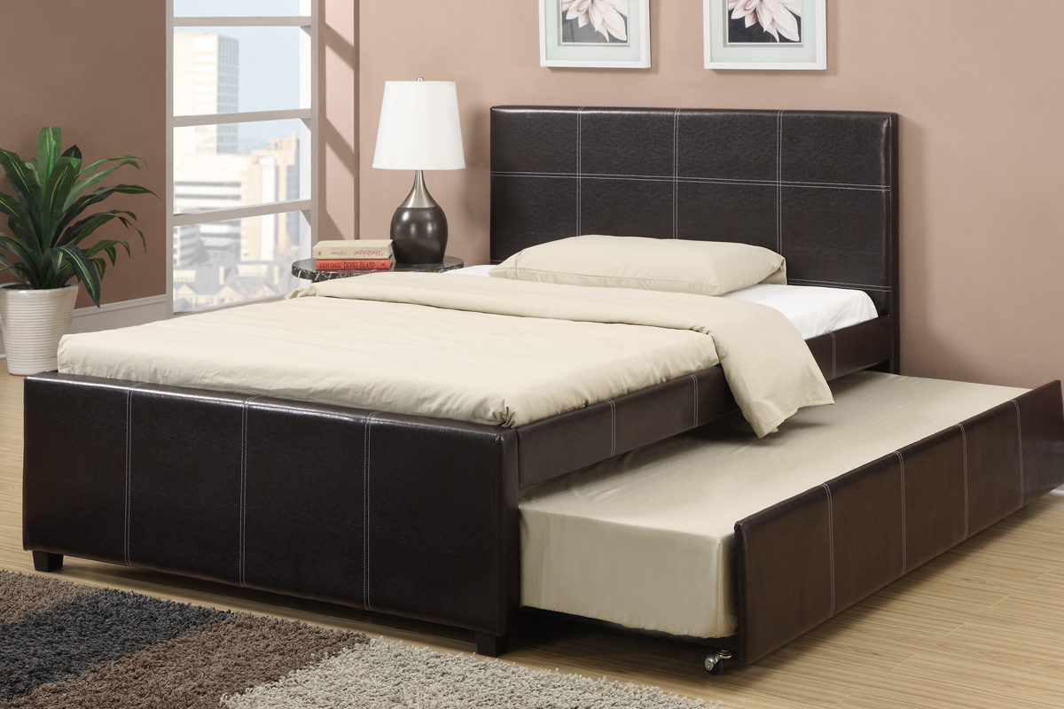 Image of: Good Full Bed with Trundle