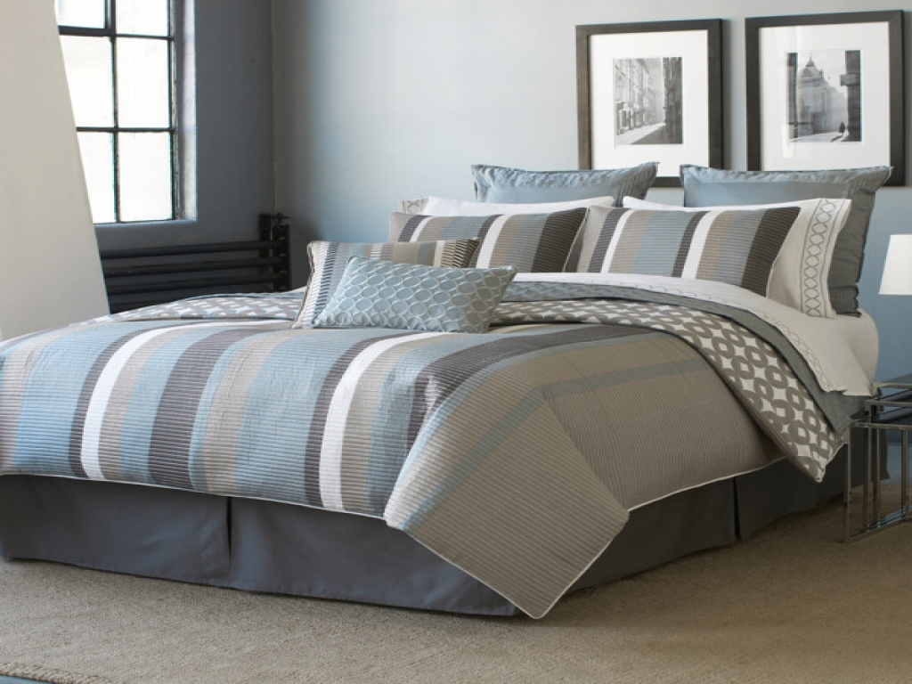 Image of: Great Blue And Grey Bedding Sets